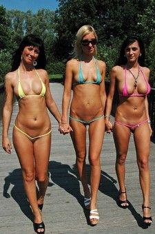 Various bikini girls