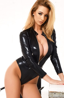 Dani Anderson In Her Pvc Bodysuit Photos