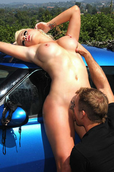 Alexis Ford Gets Banged On A Car