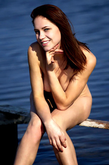 Naked Girl Barbara Vie Exposed Outdoor