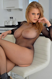 Viola In Fishnet