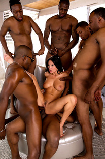 Anissa Gets Her Interracial Gang Bang Wish